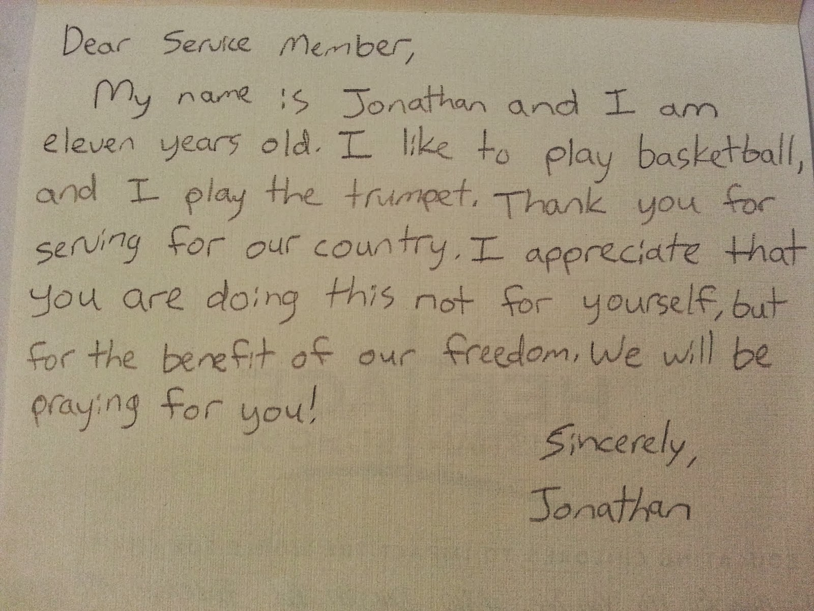 Hcs 30 Acts Of Service Heritage 5th Graders Write Letters