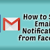 Turn Off Facebook Email Notifications