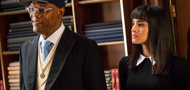 Sofia Boutella şi Samuel L. Jackson în Kingsman: The Secret Service