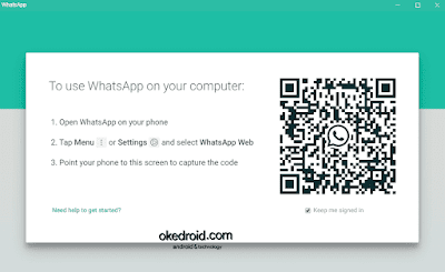 Barcode di Aplikasi WhatsApp untuk PC di Windows