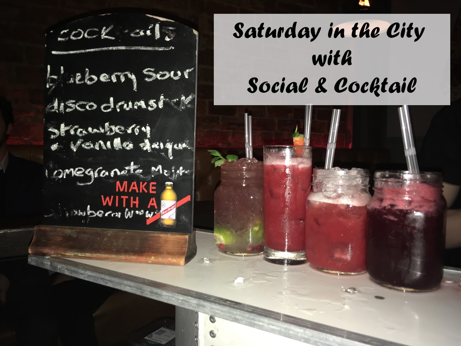 Saturday in the City with Social and Cocktail