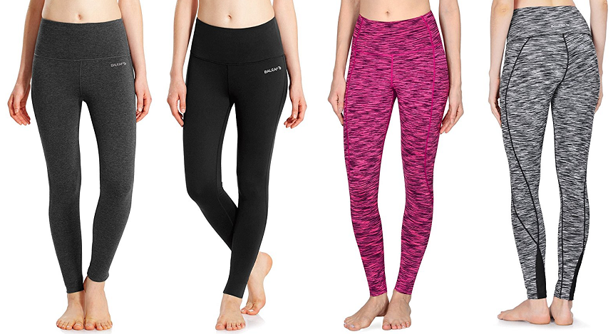Baleaf High Waist Yoga Leggings only $19-$24 (reg $38-$55)
