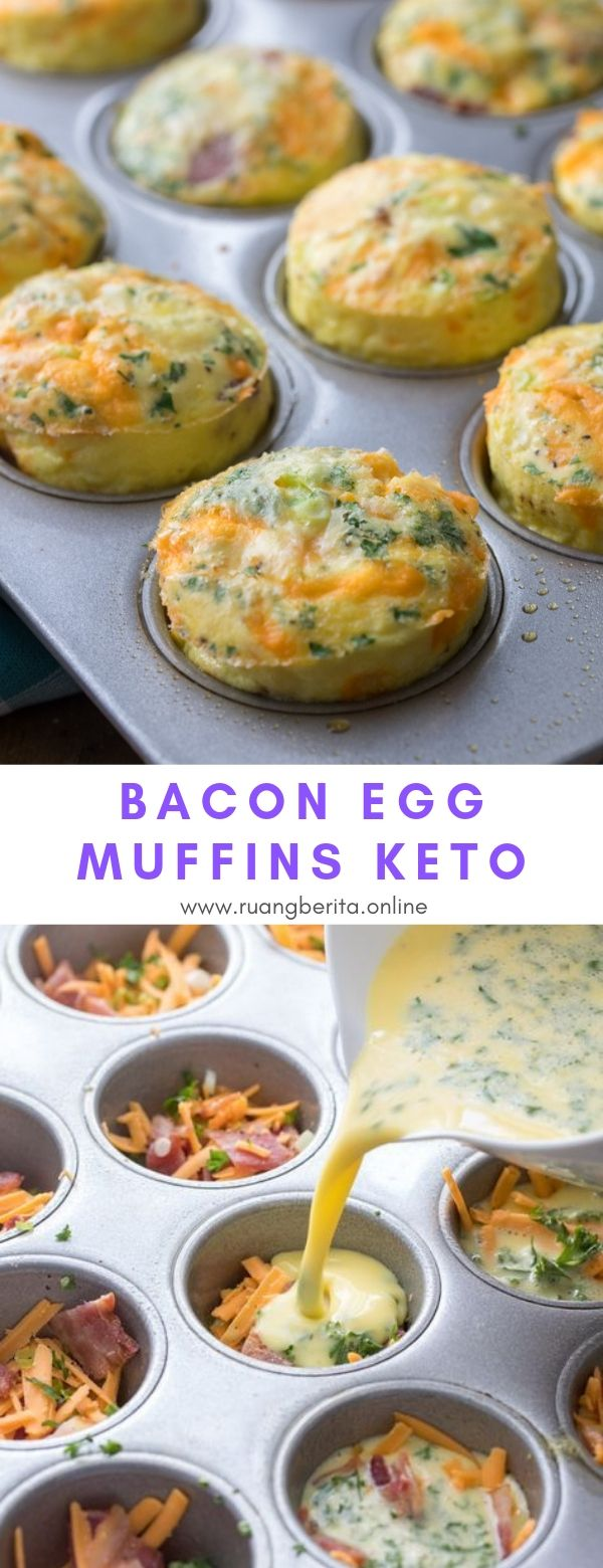 Bacon Egg Muffins Keto #breakfast  #bacon #egg #muffin #keto