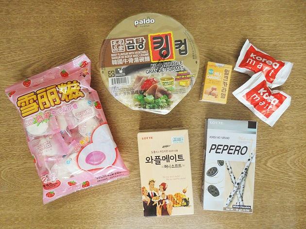 provando comidas asiáticas