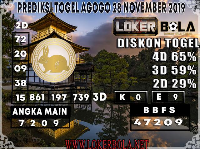 PREDIKSI TOGEL AGOGO LOKERBOLA 28 NOVEMBER 2019
