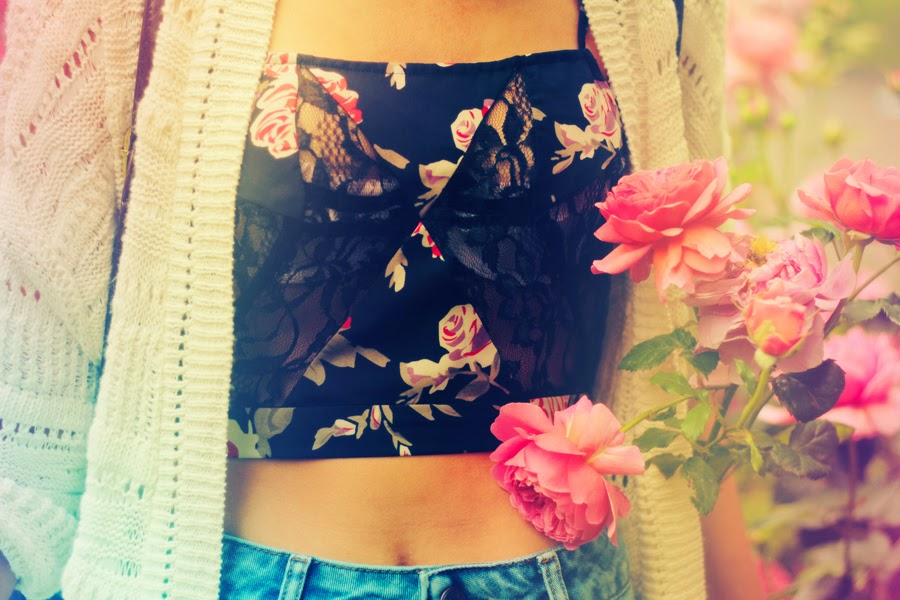 high waist crop top