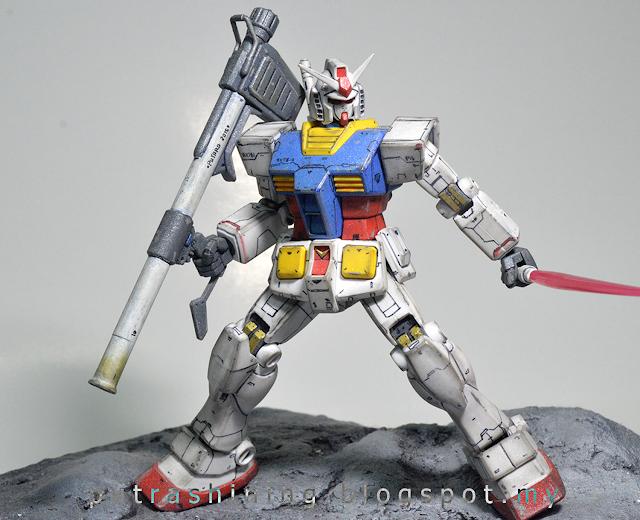 HGUC 1/144 RX-78-2 GUNDAM Custom Paint by Putra Shining