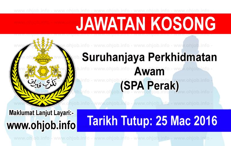 Jawatan Kerja Kosong Suruhanjaya Perkhidmatan Awam (SPA Perak) logo www.ohjob.info mac 2016