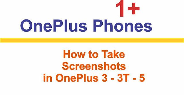 Taking Screenshot in OnePlus Phones