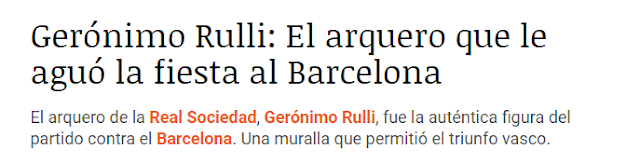 Gerónimo Rulli Real Sociedad Barcelona