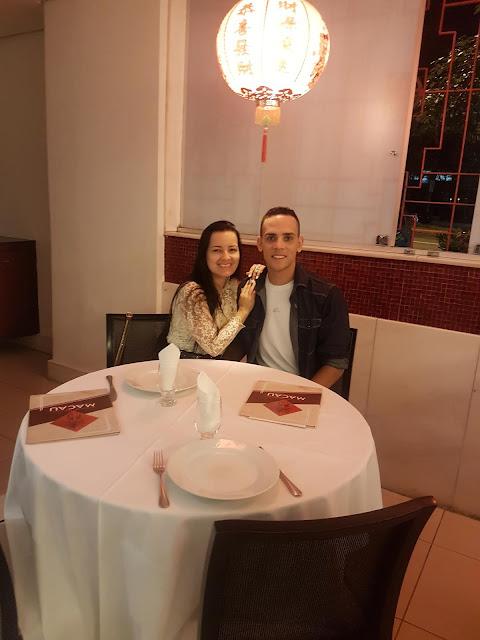 jantar no restaurante chinês