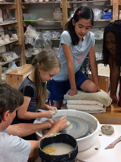 Children's clay lessons at Callanwolde by Future Relics Gallery