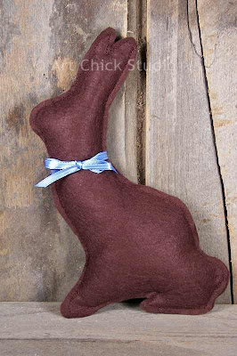 Felt Chocolate Easter Bunny Pattern