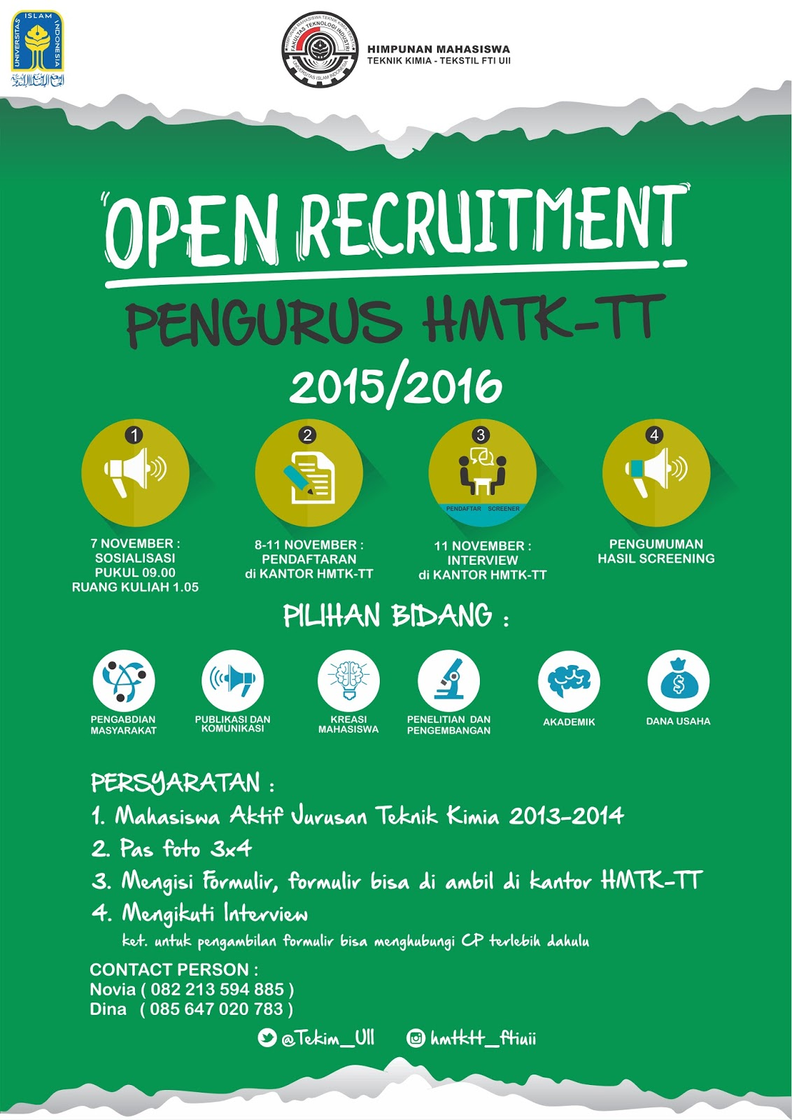 Open Recruitment Pengurus Hmtktt 2015 2016 Hmtk Tt Fti Uii