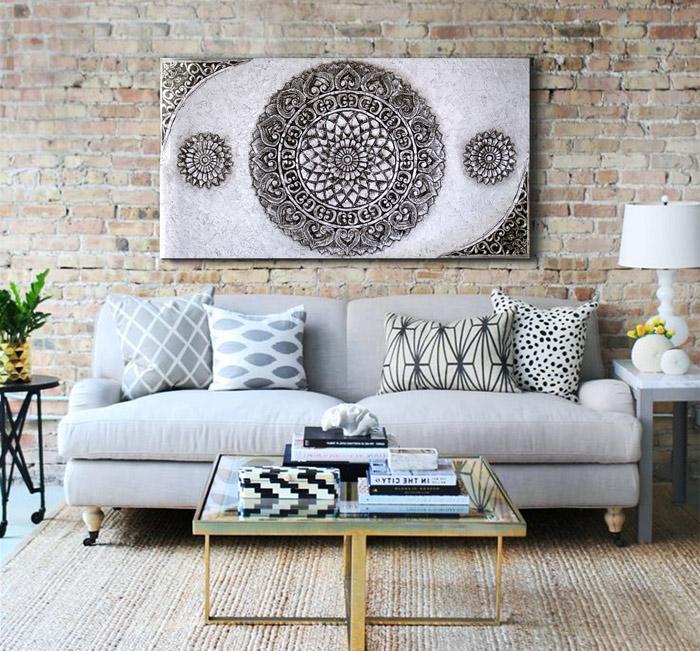Ideas para decorar ambientes con cuadros revista Cuadros modernos decoracion para tu dormitorio living