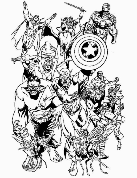 Free Printable Avengers Coloring Pages  HM Coloring Pages