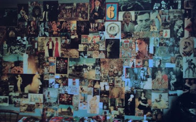 Pauline Boty, Wall Collage, photo by Roger Mayne