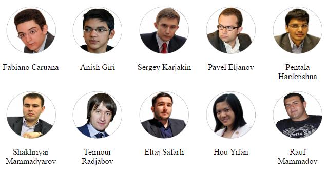 Jugadores participantes del Shamkir Chess 2016