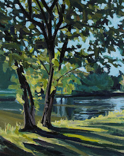 Acrylic painting of a tree at Island park, Williamsville NY