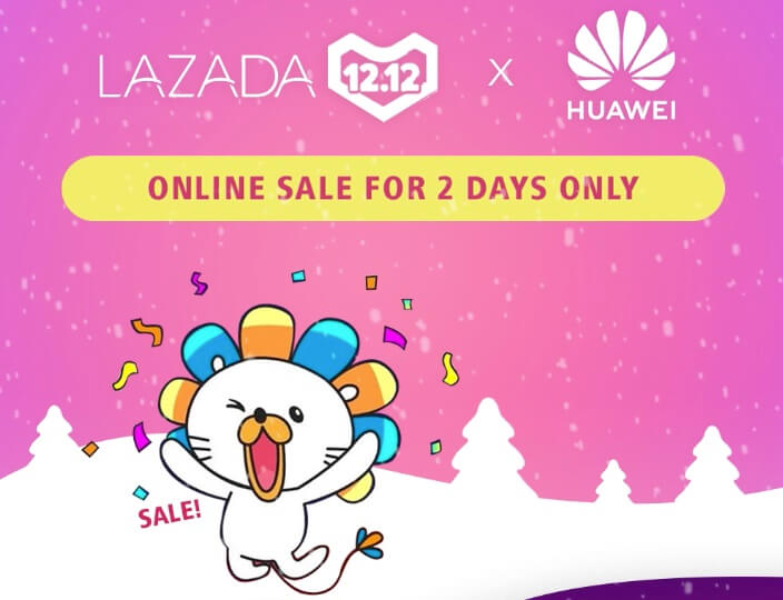 Huawei Teams Up with Lazada for 12.12 Grand Year End Sale