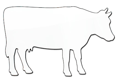 magnetic whiteboard shaped like a cow