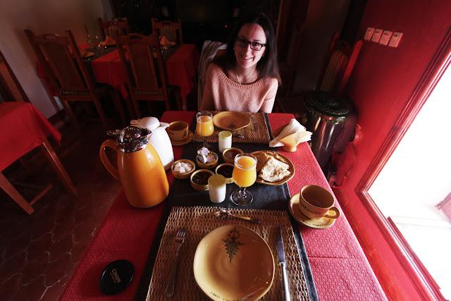 Desayuno del riad Timadrouine