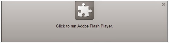 With this setting, Flash content will only play after you click it