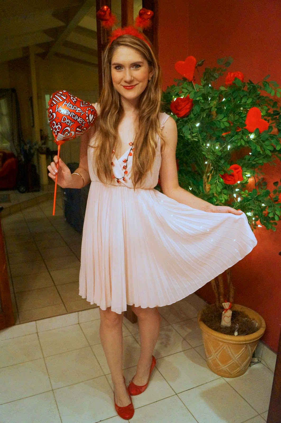 Pink and Red Outfit for Valentines Day!