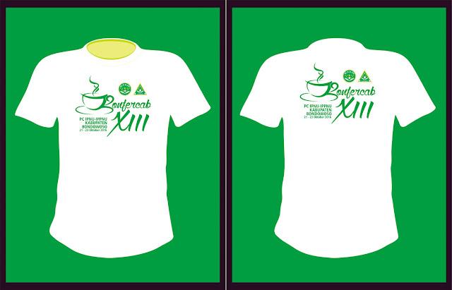 Desain T-Shirt  - Konferensi Cabang XIII IPNU & IPPNU Kabupaten Bondowoso