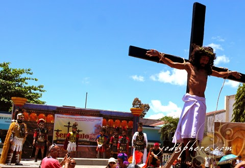 Reenactment of the Crucifixion as part of the Moriones Festival in Marinduque
