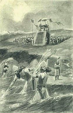 askerlere denizi dövdüren kserkses