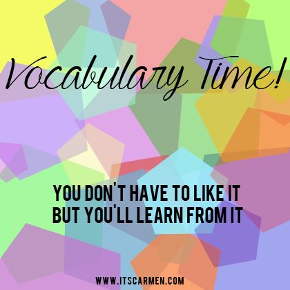 vocabulary time