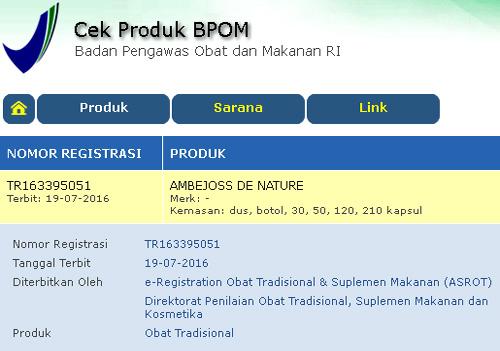 obat wasir ambeien resmi terdaftar di BPOM