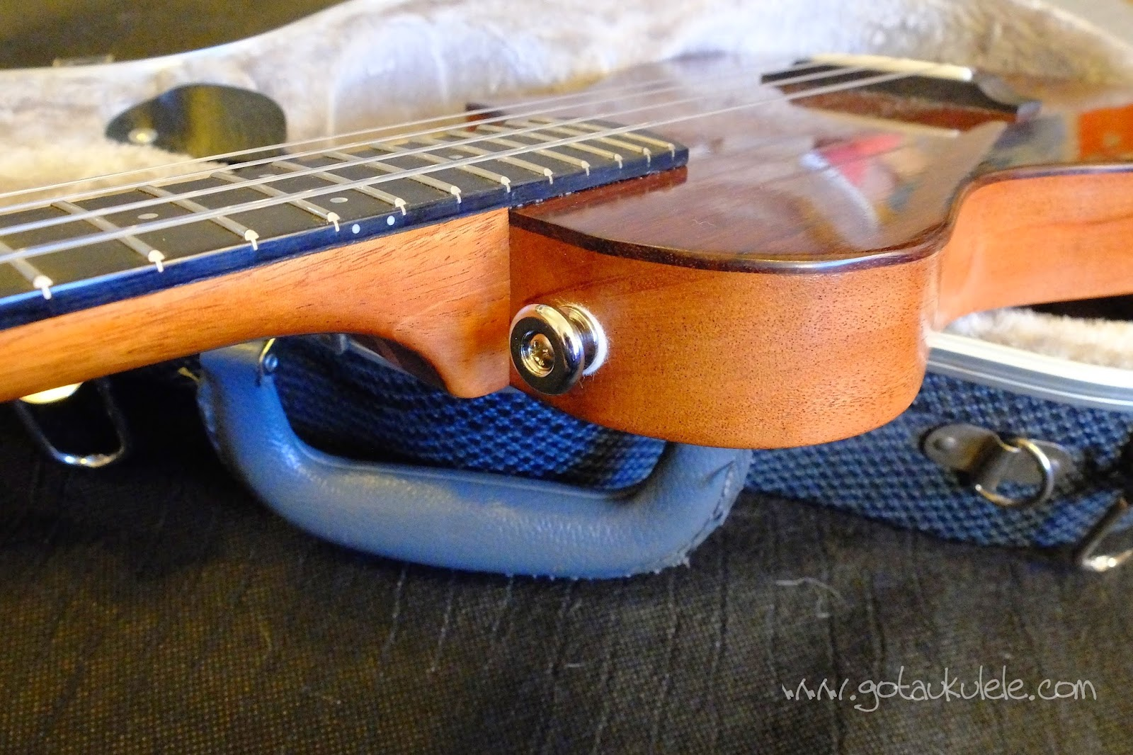 Tinguitar custom build solid electro tenor strap button