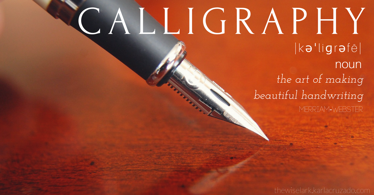 Definition of Calligraphy