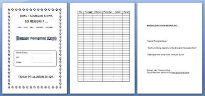desain buku tabungan siswa sd