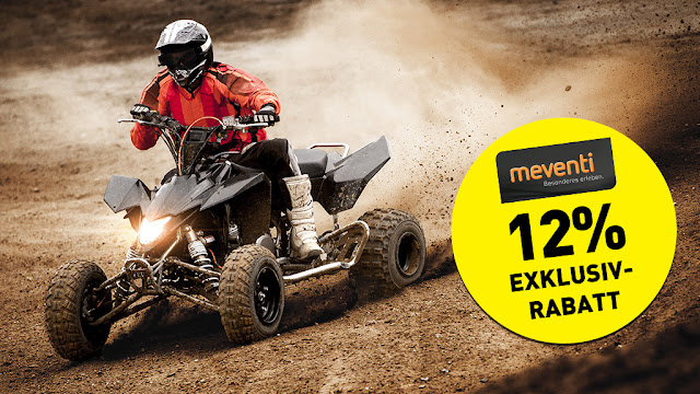 Last chance: 12% discount on quad biking