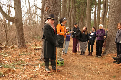 Poetry Walk at the Lone Tree Hill Reservation In Belmont