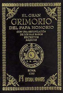 El gran grimorio del Papa Honorio, un grimorio muy famoso