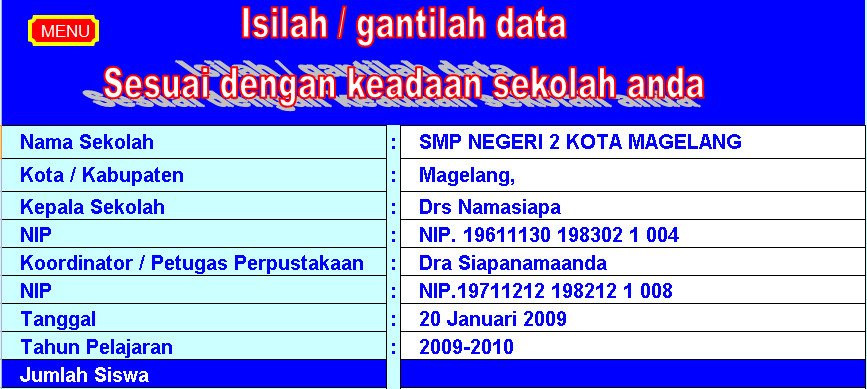Software Administrasi Perpustakaan Aplikasi Excel Free Download