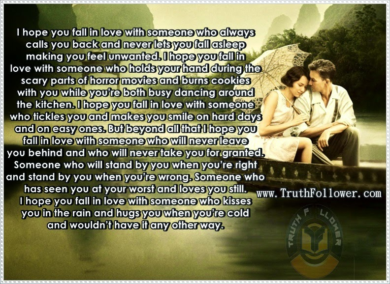 Quotes About Falling In Love, I Hope You Fall In Love With