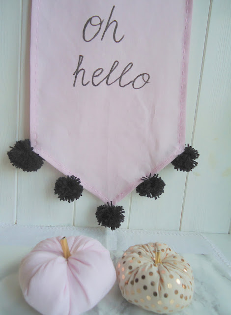 dynia z tkaniny, jesienna dekoracja