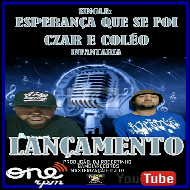 """CZAR e Coléo Infantaria lançam o single """"Esperança que se foi"""""""