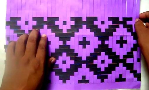 Motif Anyaman Diamond Silhuet