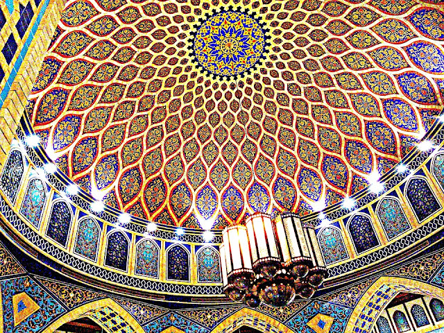 interior shot of ibn battuta mall dome