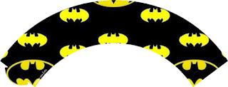 Wrappers para cupcakes de Fiesta de Batman.