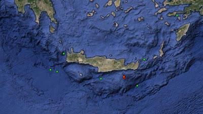 ΣΕΙΣΜΟΣ ΜΕ 4,7 ρίχτερ νότια της Κρήτης