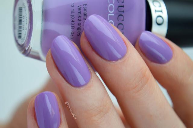 cuccio peace love and purple swatch meebox