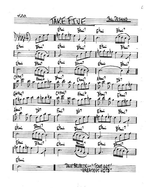 Partitura Bajo Paul Desmond