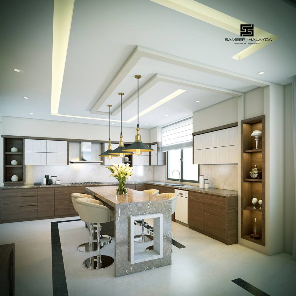 25 Gorgeous Kitchens Designs With Gypsum False Ceiling U0026 Lights .